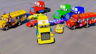 Spiderman Learn Colors with Disney Cars McQueen Mack Truck Cruz Ramirez Jackson Storm Songs for Kids