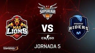 games MAD LIONS VS MOVISTAR RIDERS  - Mapa 1 - Jornada 5 - #SuperligaorangeCSGO5