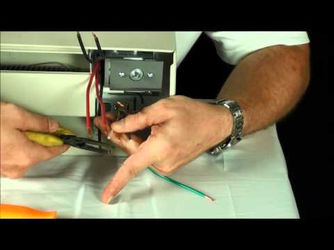 2900 Series Double Pole Thermostat Installation - YouTube
