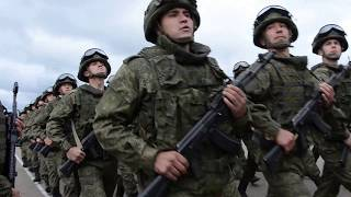 Военный парад на учениях в Чебаркуле