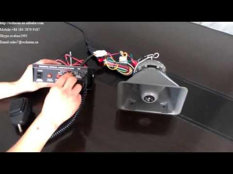 cjb pa 100w 200w multi function electronic siren for police rh youtube com Siren Alarm Police Siren Wiring