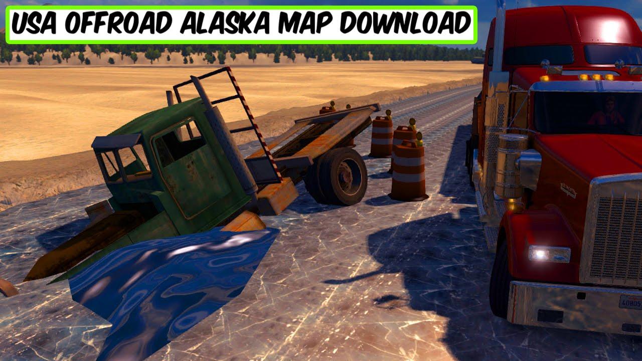 USA Offroad Alaska Map Download ATS YouTube