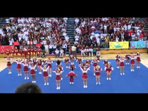 Goleman cheerleading the pep rally 2011 youtube