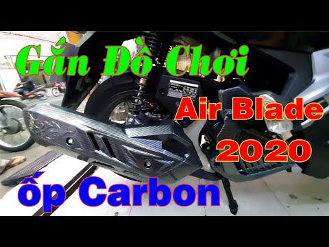Gắn Đồ Chơi Xe Honda Air Blade 2020   Ốp Carbon Xe Air Blade 2020 Đẹp
