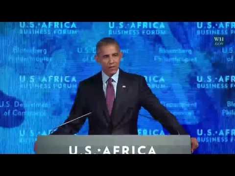 Obama Addresses US-Africa Business Forum  -Full Speech