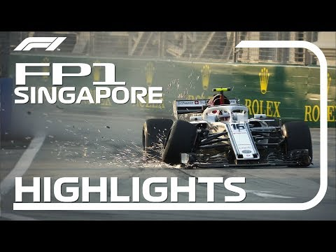 2018 Singapore Grand Prix: FP1 Highlights