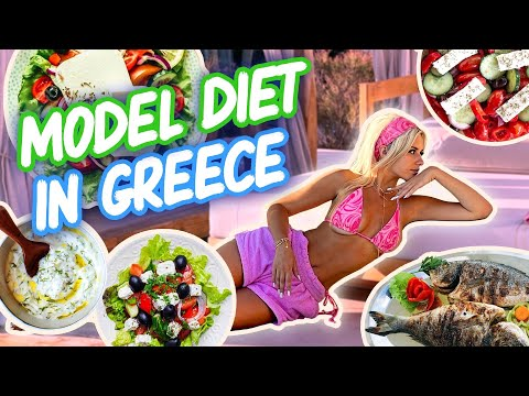 what i eat in a day as a SUPERMODEL in GREECE