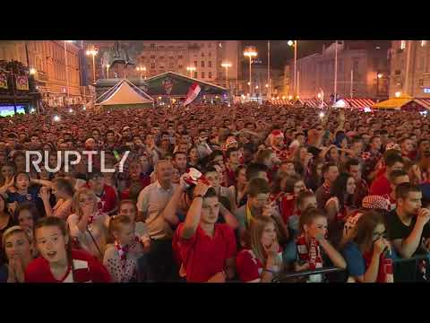 Croatia: Zagreb bursts with joy as Croatia beat Russia on penalties