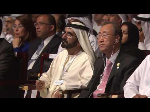 محمد بن زايد يلقي الكلمة الرئيسية في القمة الحكومية 2015