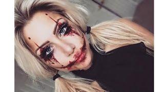 Harley Quinn the joker inspired halloween makeup | beeisforbeeauty