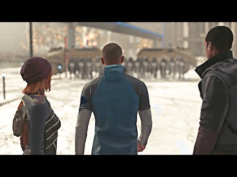 Detroit: Become - Markus Commits to Non-Violence as Police Attack
