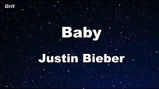 Baby ft. Ludacris - Justin Bieber Karaoke 【With Guide Melody】 Instrumental