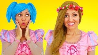 Princess Rapunzel Goes to Hair Salon   Super Elsa
