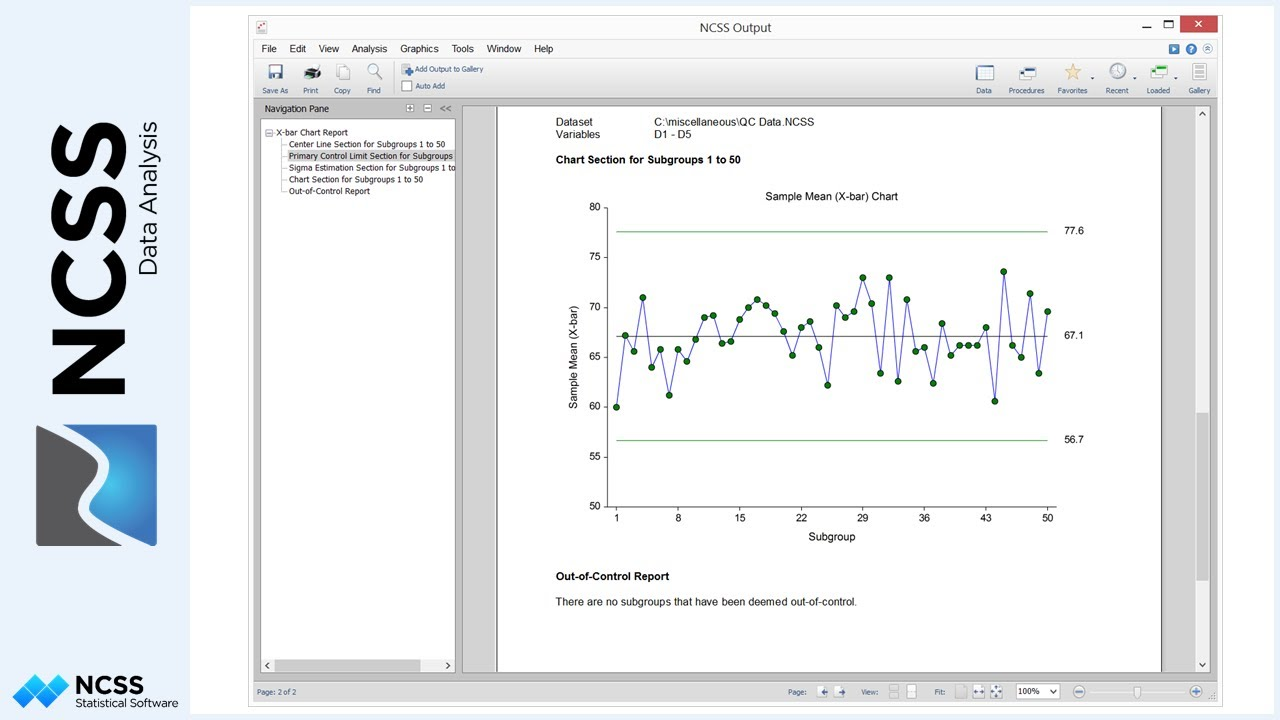 quality control charts in ncss youtube