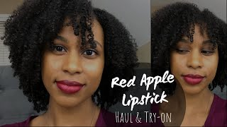 Lipstick Haul & Try-on | Red Apple Lipstick