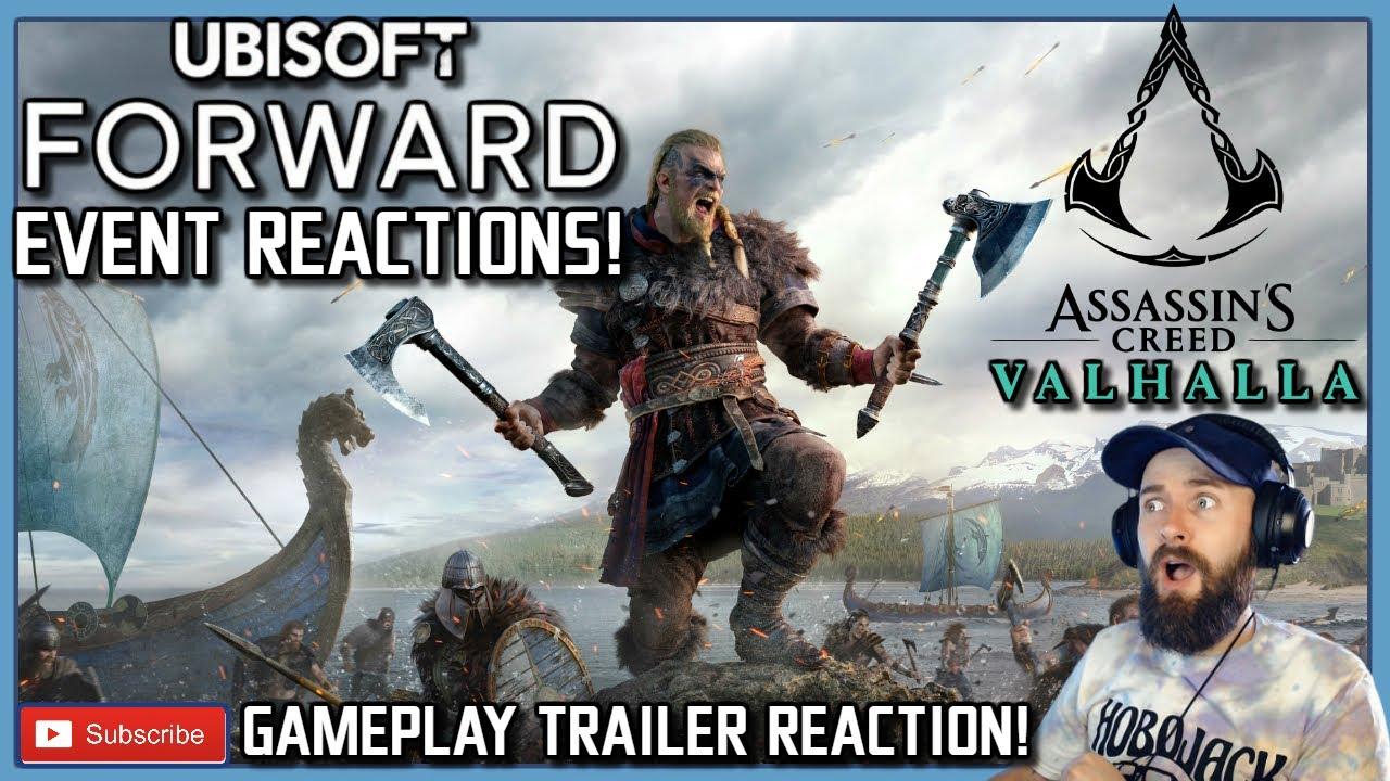 assassins creed valhalla gameplay trailer reaction