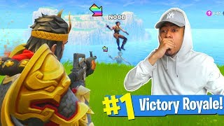 SCARING NOOBS with NEW *WUKONG* LEGENDARY SKIN in Fortnite!! *WINS 100% GUARANTEED*