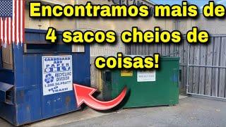 ENCONTRAMOS MAIS DE 4 SACOS CHEIOS DE COISAS NO LIXO DOS ESTADOS UNIDOS!🇺🇸🇺🇸🇺🇸dumpster-basura