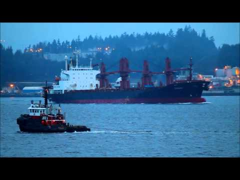SEASPAN PROTECTOR, CHENAN, And More Westcoast Marine Traffic.