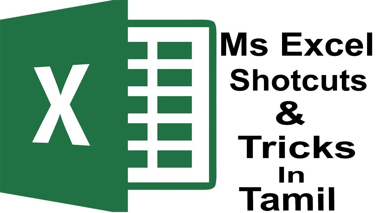 MS Excel Shotcut In Tamil - By Behind Facts