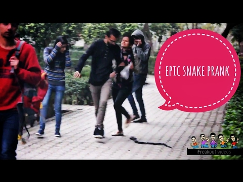 Epic Snake Scaring Prank in LPU | PRANK IN INDIA