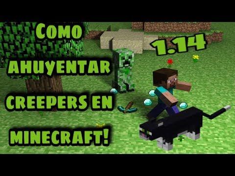 Como Ahuyentar Creepers En Minecraft 1.14 | GoldemSheep
