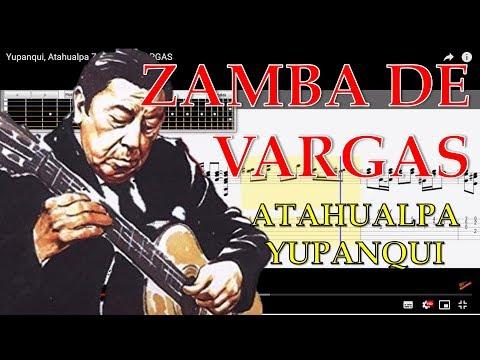 Zamba de Vargas tabs Atahualpa Yupanqui descargar guitar tabs tutorial