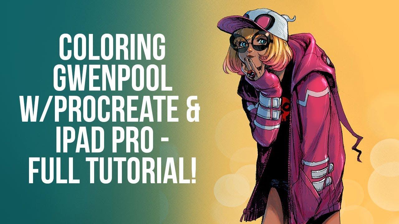 Procreate 4 coloring tutorial stream recording - coloring ...