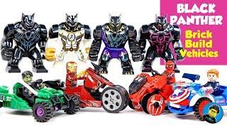 Black Panther Vibranuim Iron Man Hulk Spider-Man Avengers Endgame Quantum Suits Unofficial LEGO Set