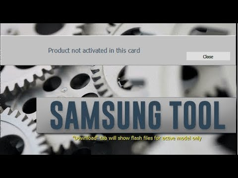 Samsung Tool Pro Activation _ Product Not activated in This Card