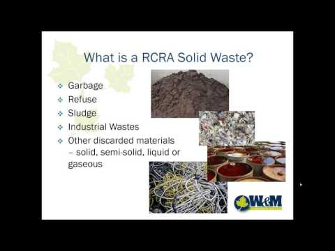 RCRA   Hazardous Waste Management Training