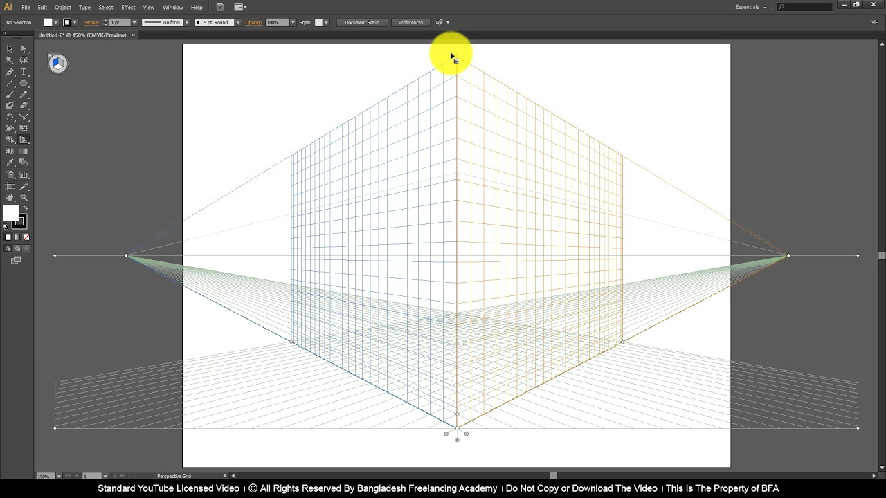 Ai Class 16 How to use Perspective Grid Tool