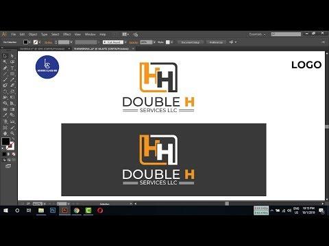 professional logo design illustrator - letter logo design tutorial thumbnail