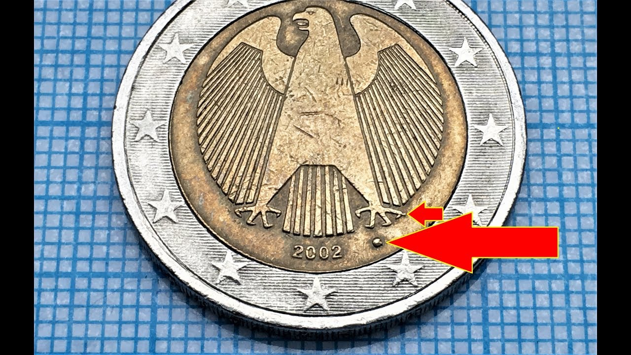 2 Euro Germany 2002 Defect Coin Defekte Münze Video Channel 500 Euro