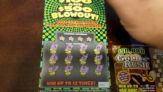 2 - $10 of $50, $100 or $500 Blowout Florida Lottery Scratch Off Ticket