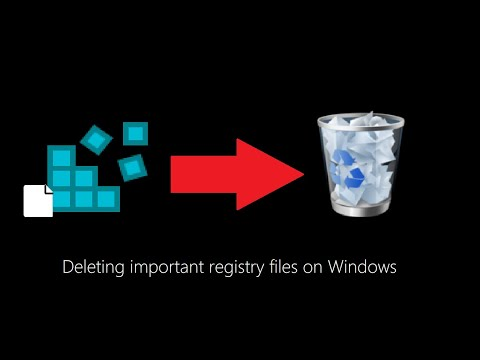 Deleting Important Registry Files On Windows