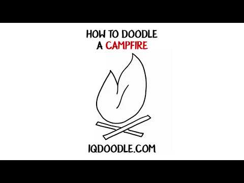 How to Draw a Campfire (drawing tips)