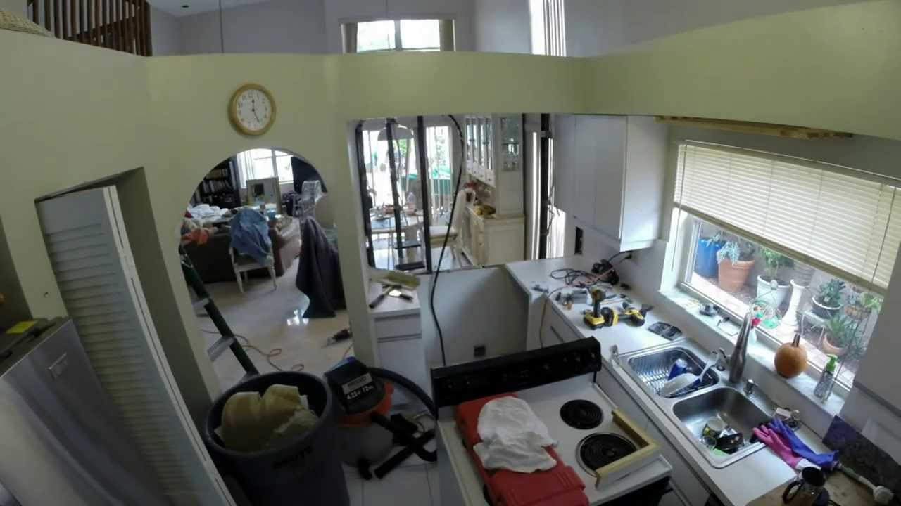 Kitchen Pass Through Kitchen Passthrough Construction Youtube