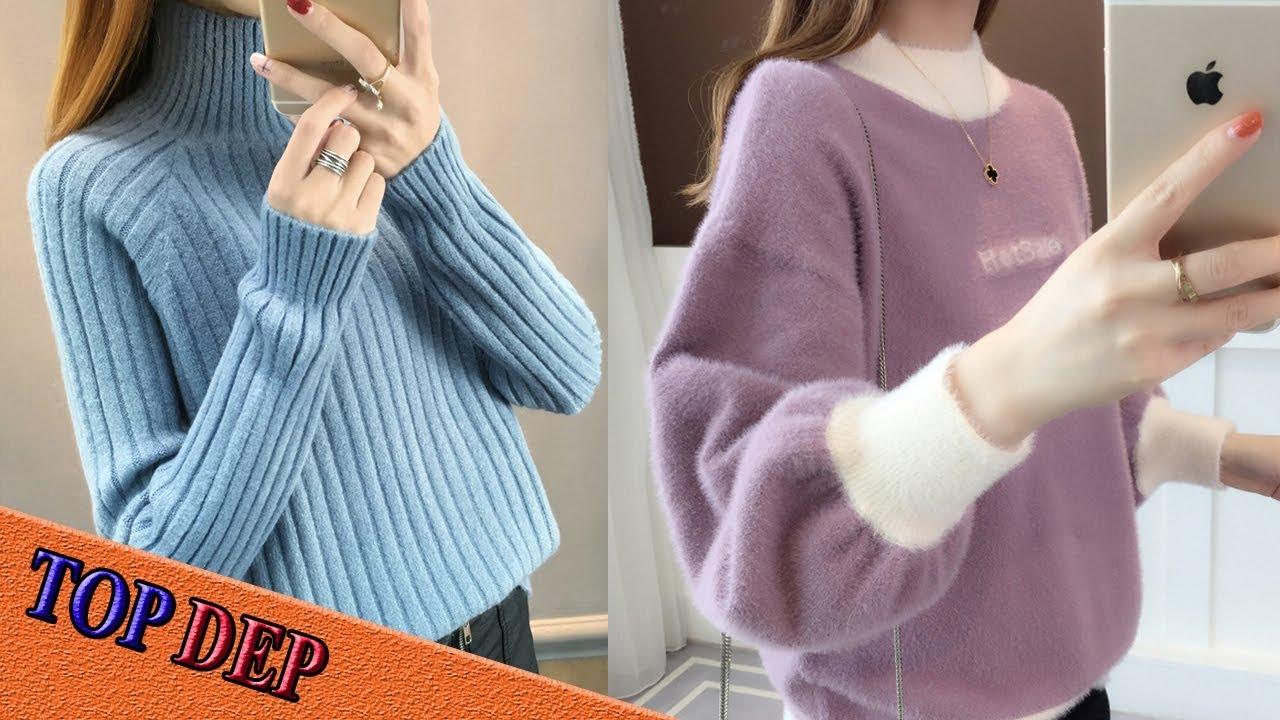 Top 100 mẫu áo len nữ mới nhất