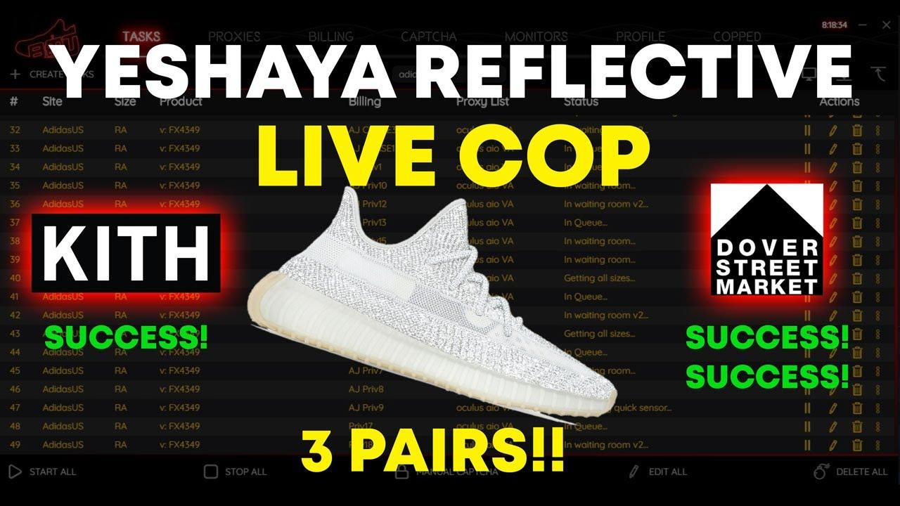Yeezy Yeshaya Reflective Live Cop from
