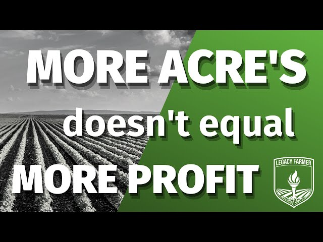 More Acres DOESN'T Mean More Profit