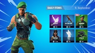 *New* GARRISON SKIN Showcase Review!!! Daily Fortnite Item Shop Today (September 09)