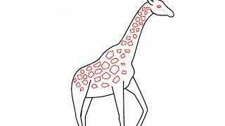 Simple Drawings Giraffe 1