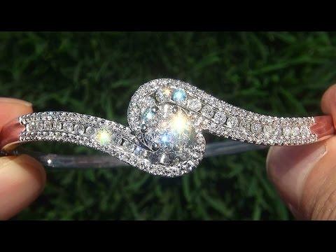 estate-vs2/f-certified-natural-diamond-14k-white-gold-bangle-bracelet---c670