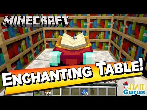 Minecraft Enchantment Table Design Recipe Room Layout Bookshelf Setup Minecraft Java Edition Youtube