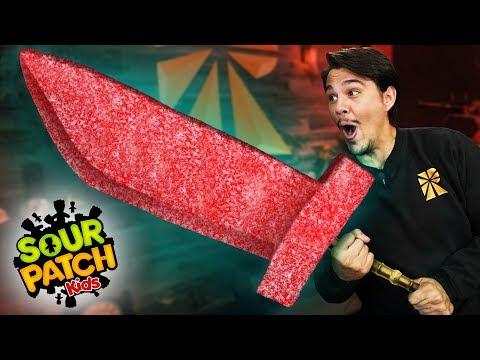 DIY Giant Sour Patch Kids Sword!