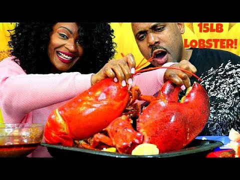 GIGANTIC 15LB LOBSTER SEAFOOD BOIL MUKBANG! + FUN FACTS ABOUT LOBSTER!