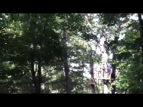 Zip Line and Obstacle Course at Turtle Back Zoo - YouTube