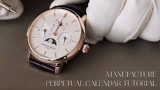 FREDERIQUE CONSTANT TUTORIAL - THE MANUFACTURE PERPETUAL CALENDAR