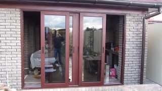 видео двери алюминиевые